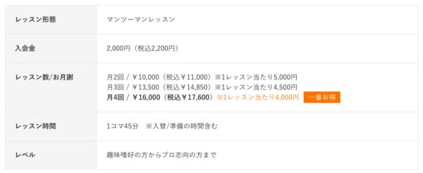 シアーミュージックの料金表