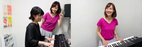 アバロンのピアノレッスンの様子